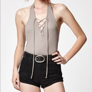 PacSun Tops - Kendall & Kylie PacSun Lace Up Ribbed Crop Top